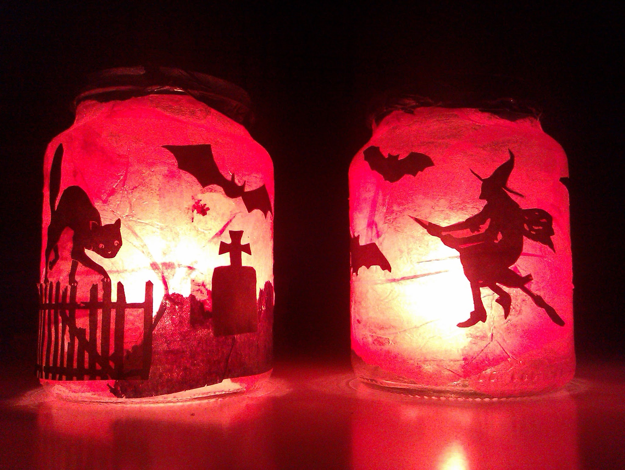 spooky halloween lanterns - How To Make Halloween Lanterns